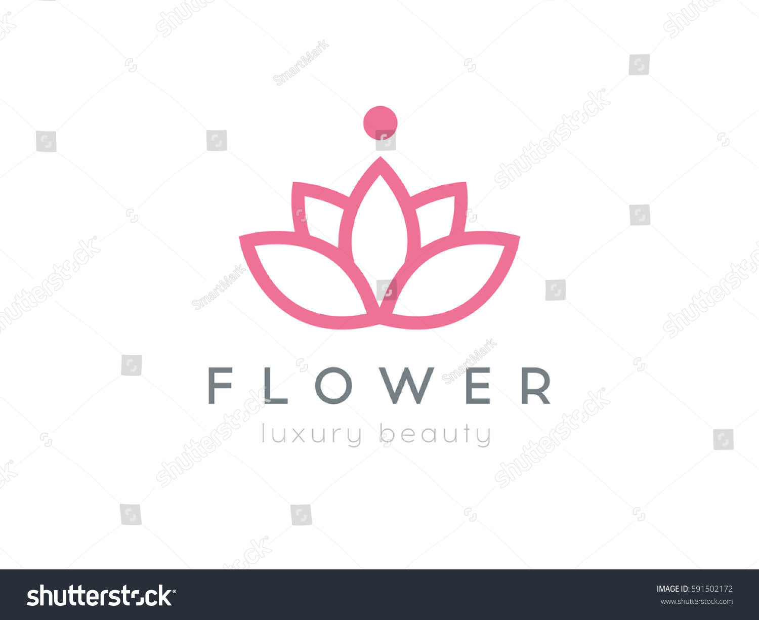 Flower logo abstract beauty salon cosmetics stock vector for Abstract beauty salon