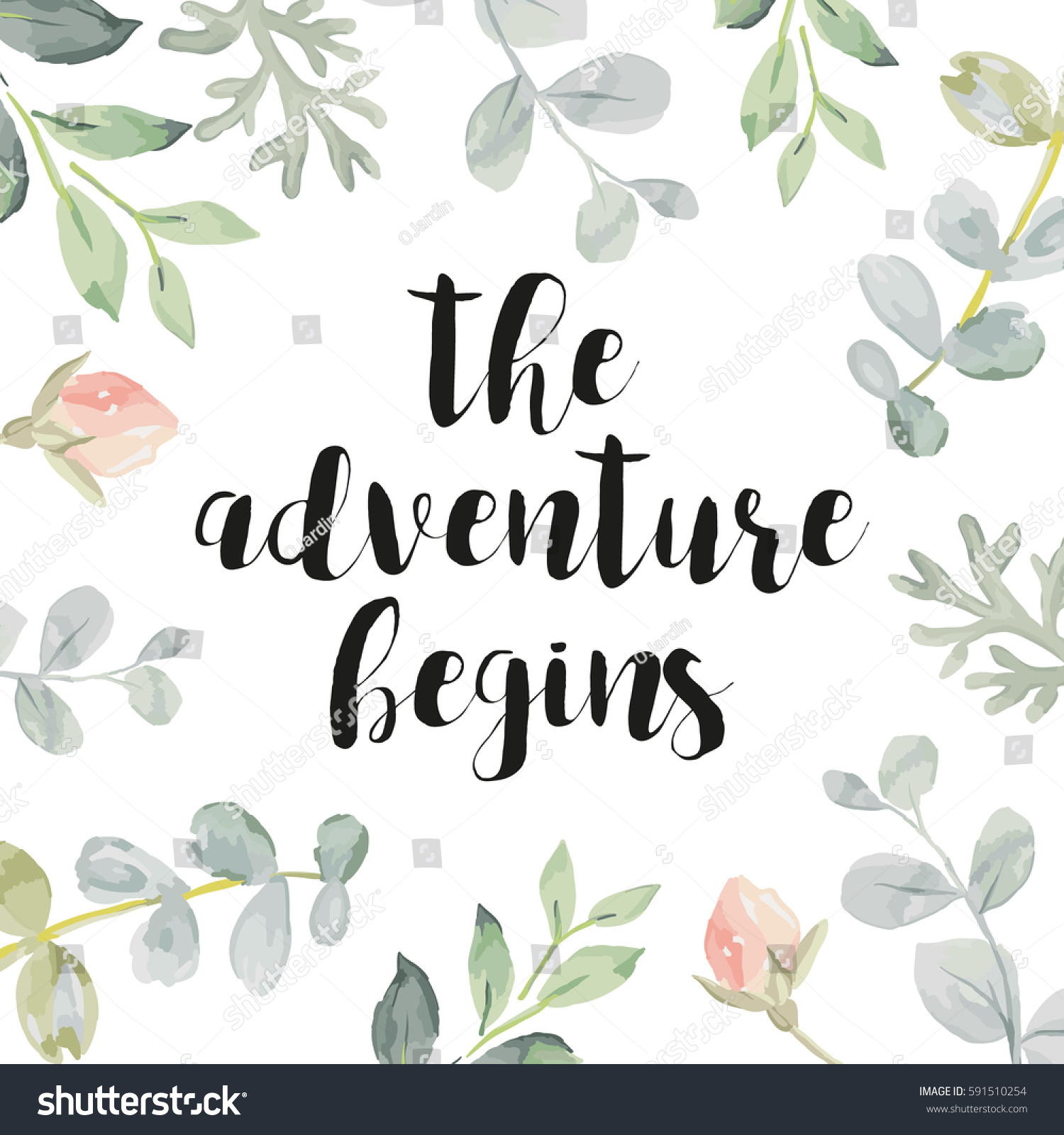 card template quote adventure begins pale stock vector 591510254