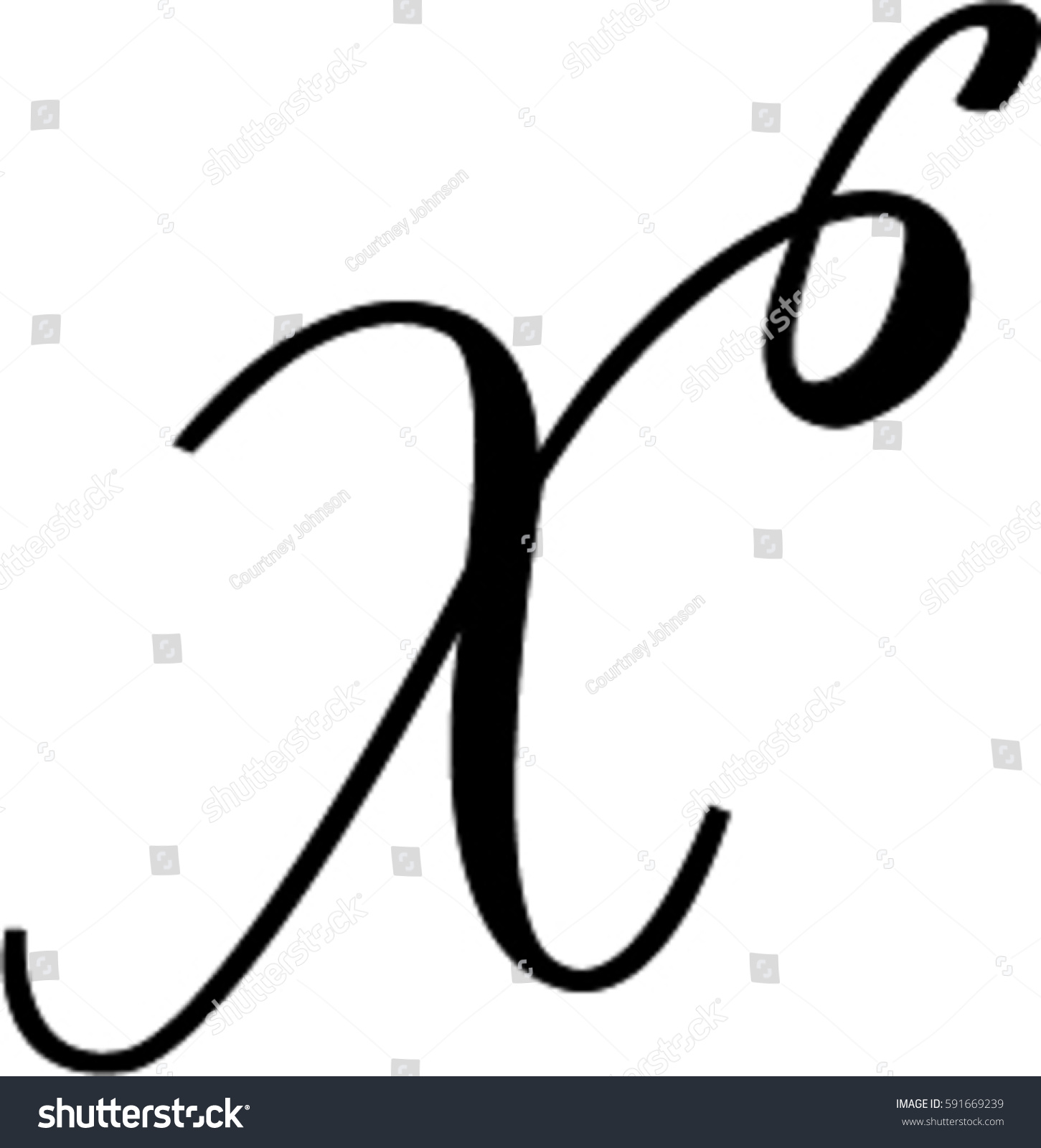 Cursive x stock vector 591669239 shutterstock cursive x biocorpaavc Image collections