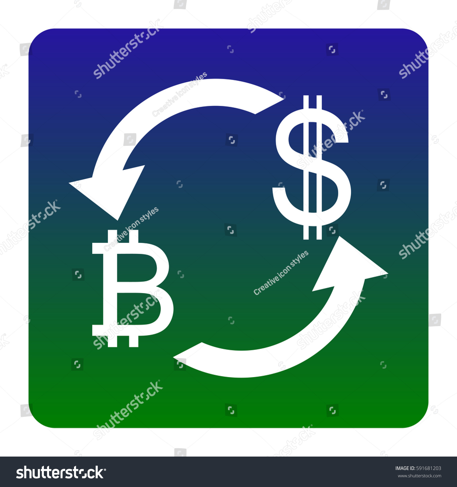 Currency Exchange Sign Bitcoin Us Dollar Stock Vector 591681203