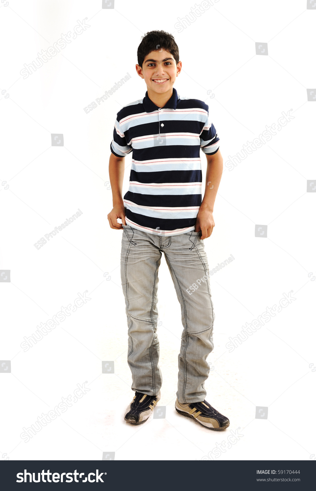 Fashionable Teenager Boy Stock Photo 59170444 Shutterstock