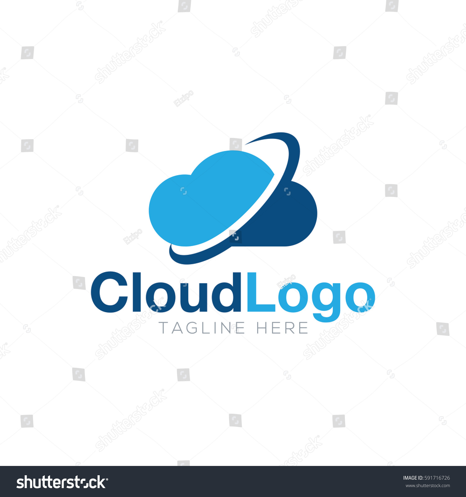Cloud Logo Design Stock Vector 591716726 Shutterstock