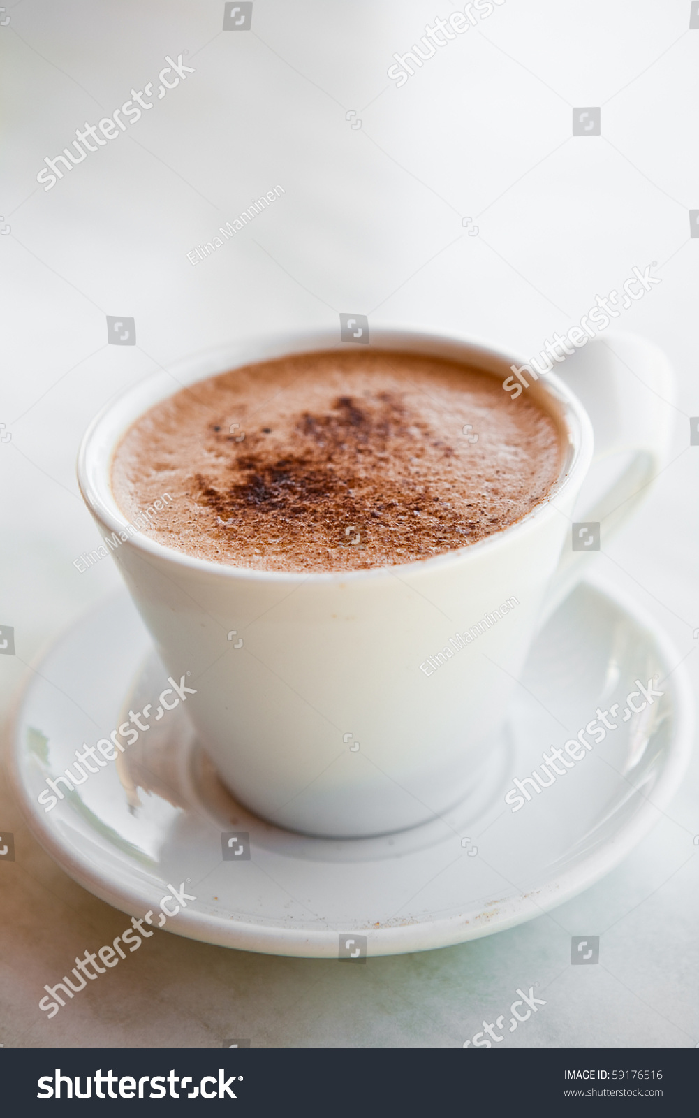 Delicious Hot Chocolate In A White Mug Stock Photo 59176516 ...