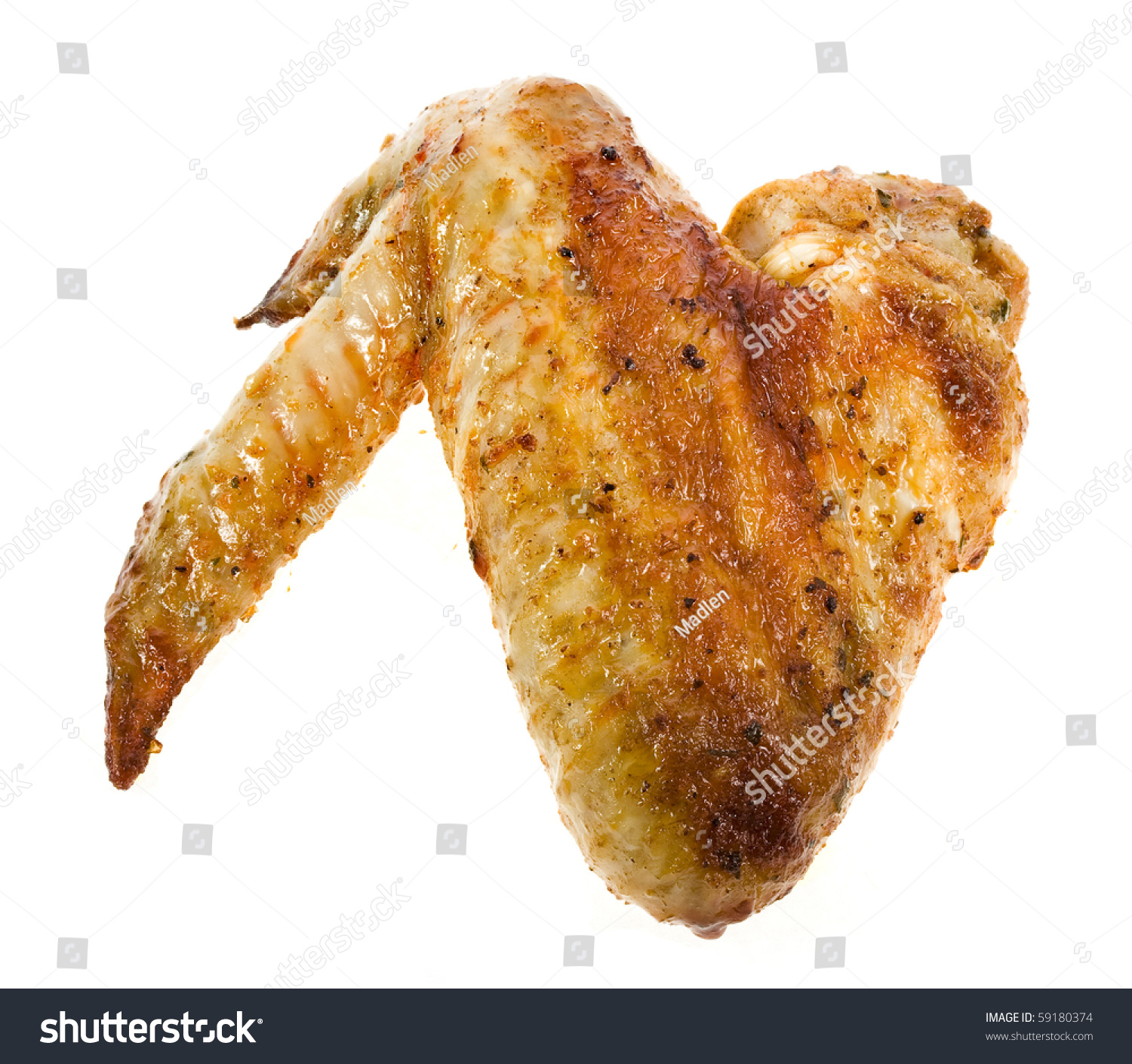Fried Chicken Wings Cartoon Isolated chicken wings stock photos ...