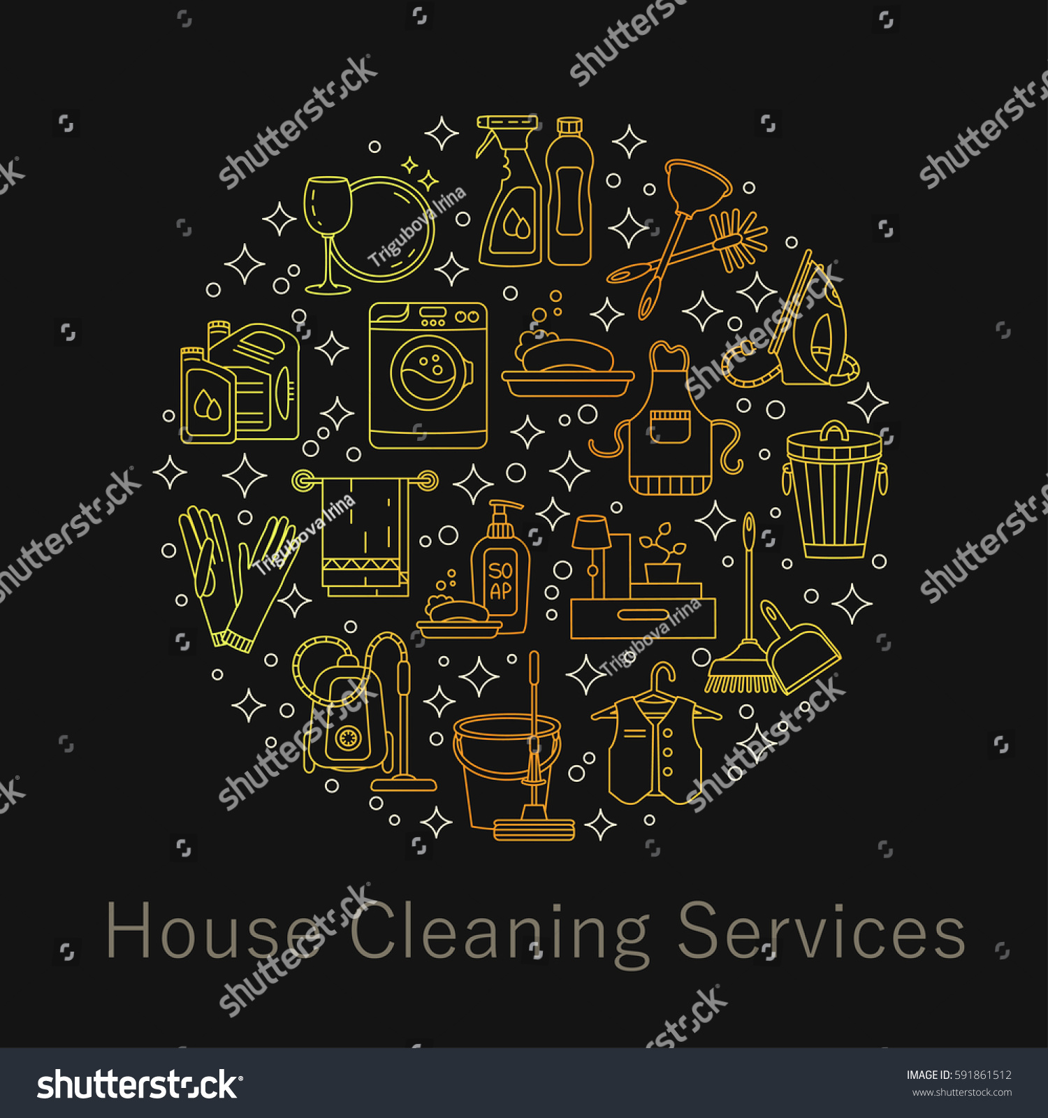100 [ house cleaning cards ]