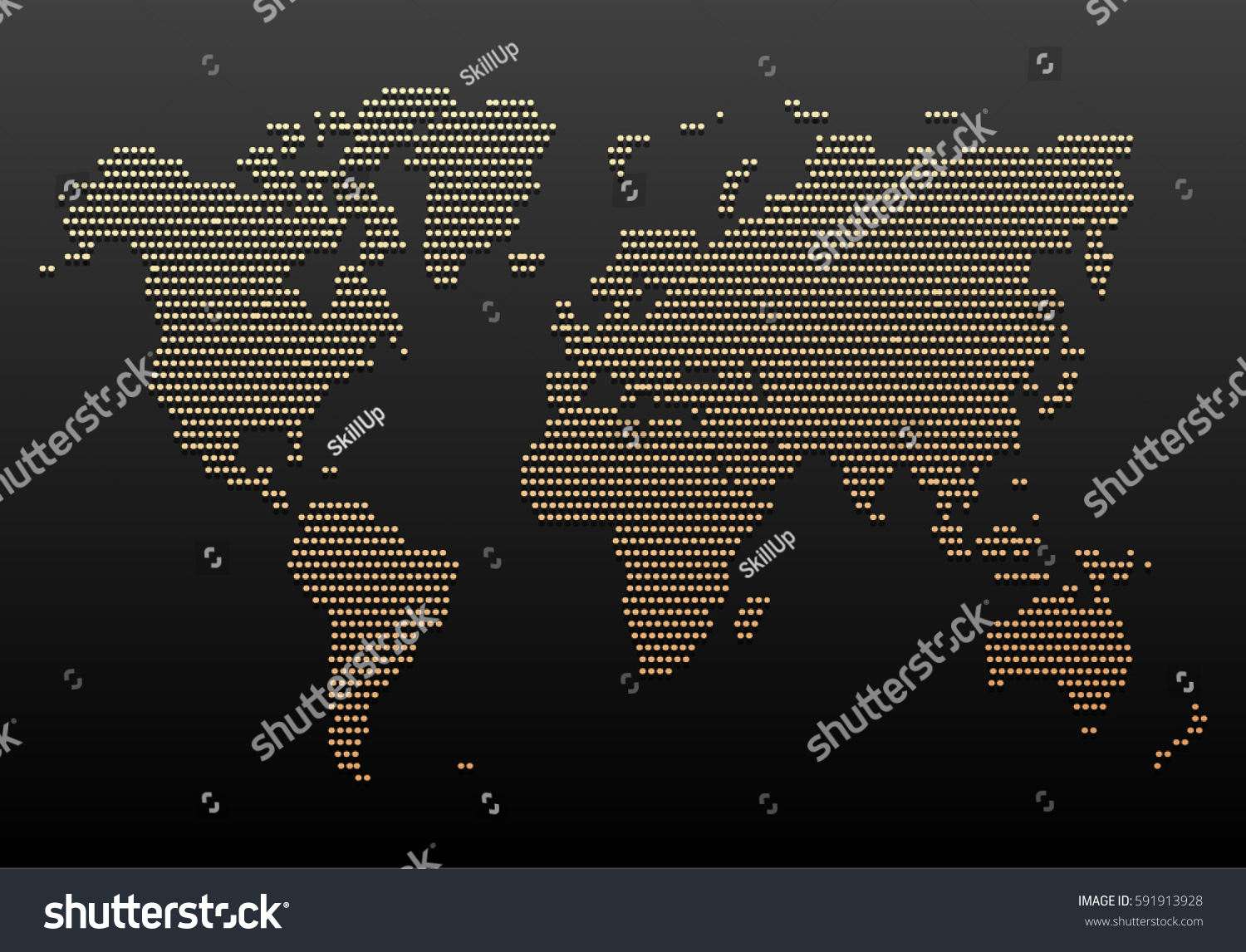 Black gold world map design vintage stock vector 591913928 black and gold world map design vintage hatched world map with lines travel vector gumiabroncs Images