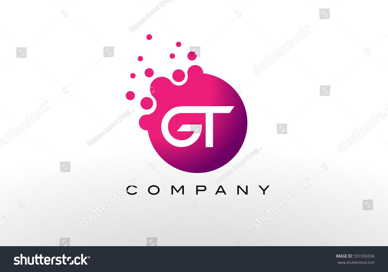 GT Letter Dots Logo Design Creative Stock Vector (Royalty Free ...