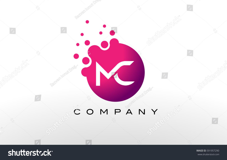 MC Letter Dots Logo Design Creative Stock Vector (Royalty Free ...