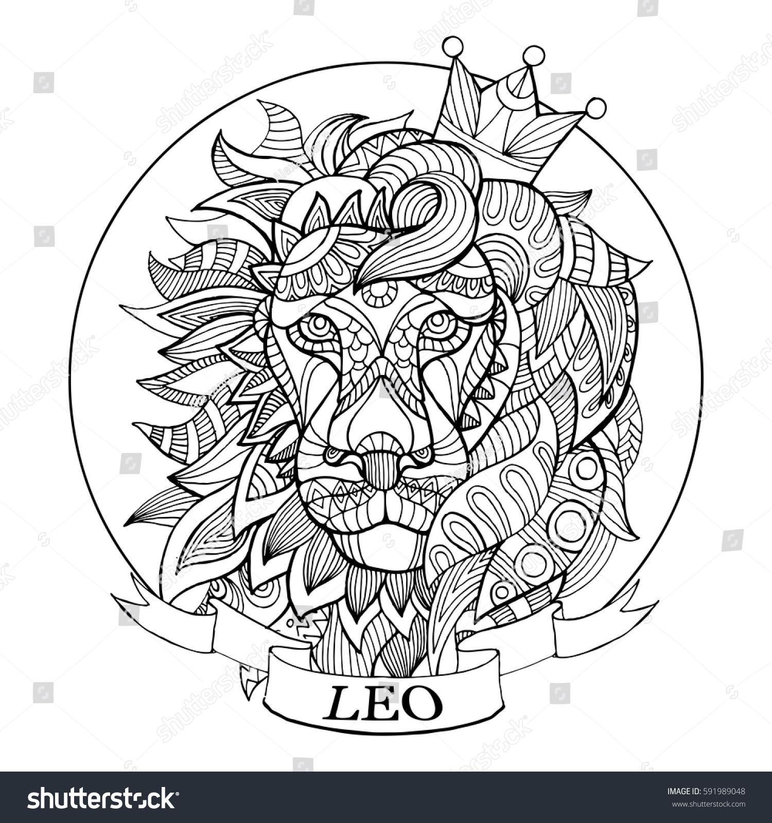 zodiac sign coloring book vector stock vector