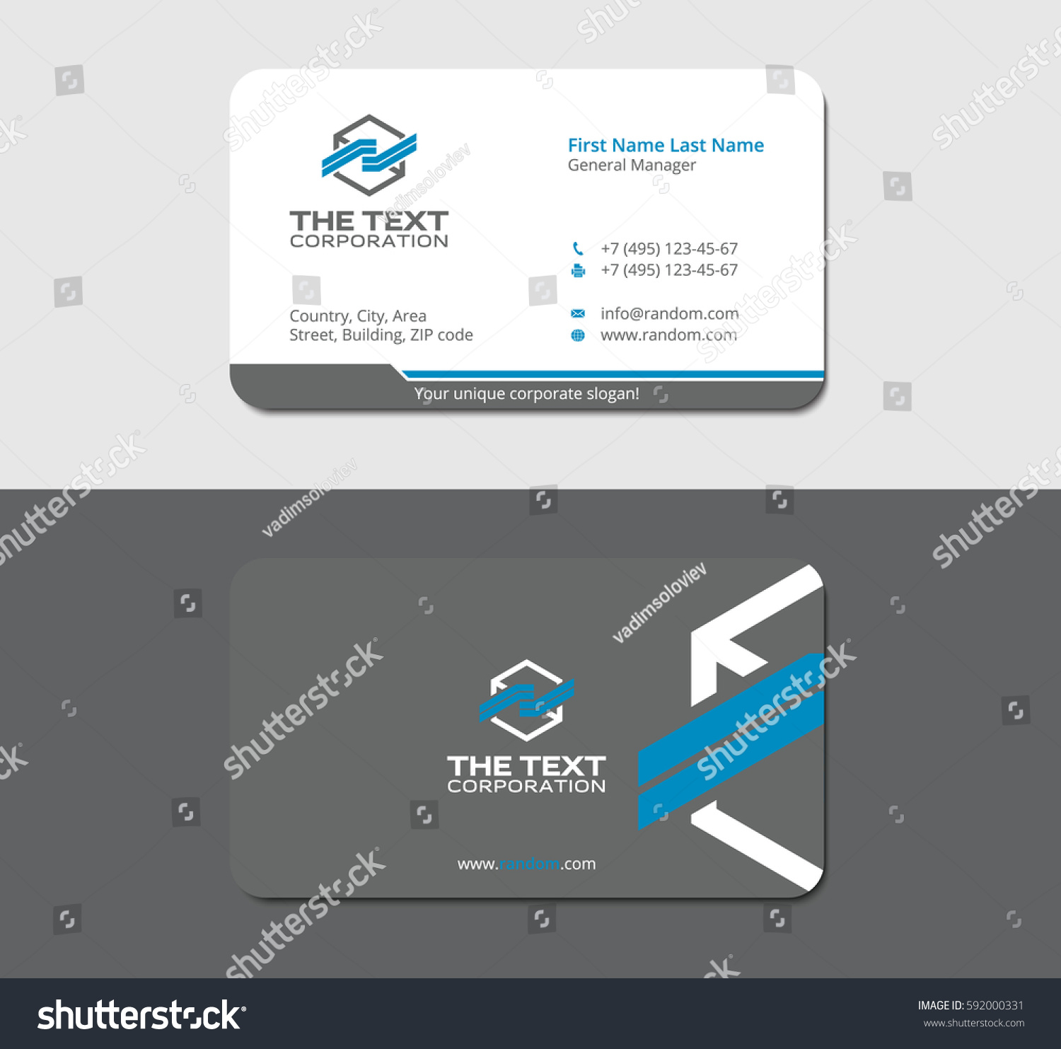 Sleek business cards gallery free business cards gray sleek business card abstract hexagon stock vector 592000331 gray sleek business card with abstract hexagon magicingreecefo Choice Image