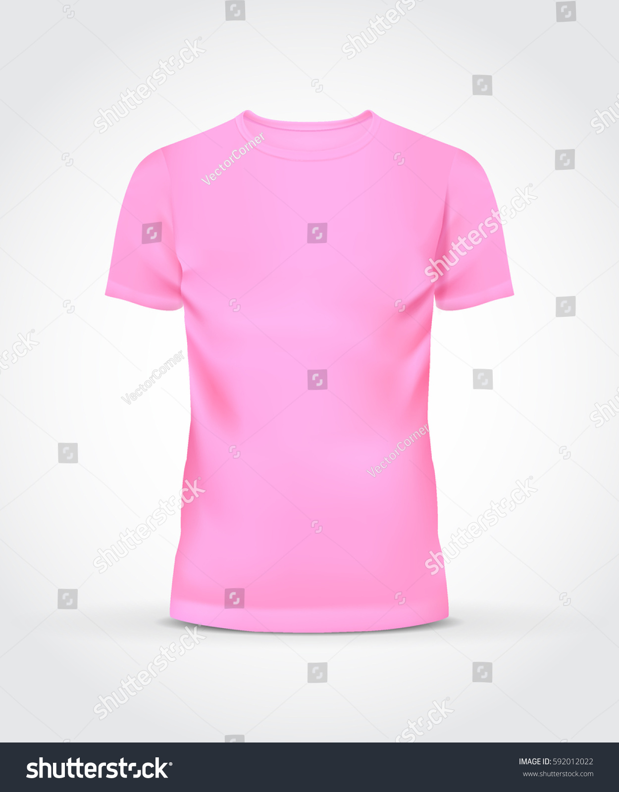 Shirt Template Design Front View Mens Stock Vector 592012022 ...
