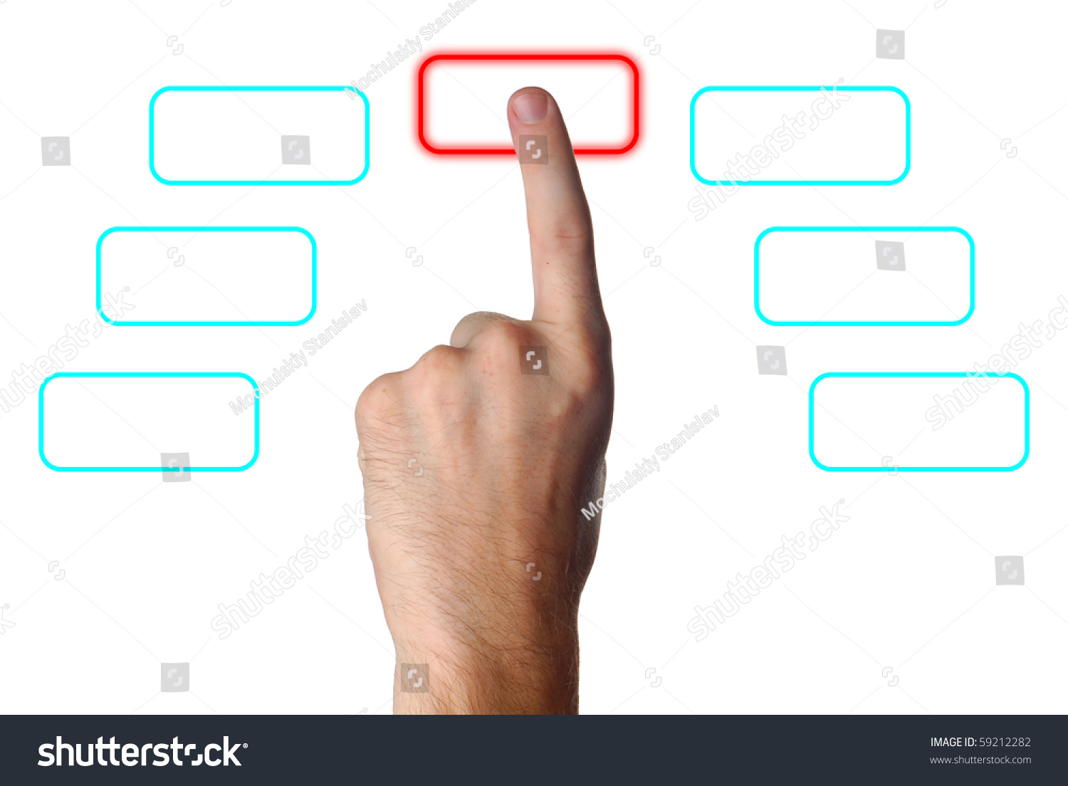 finger pressing button clip art � cliparts
