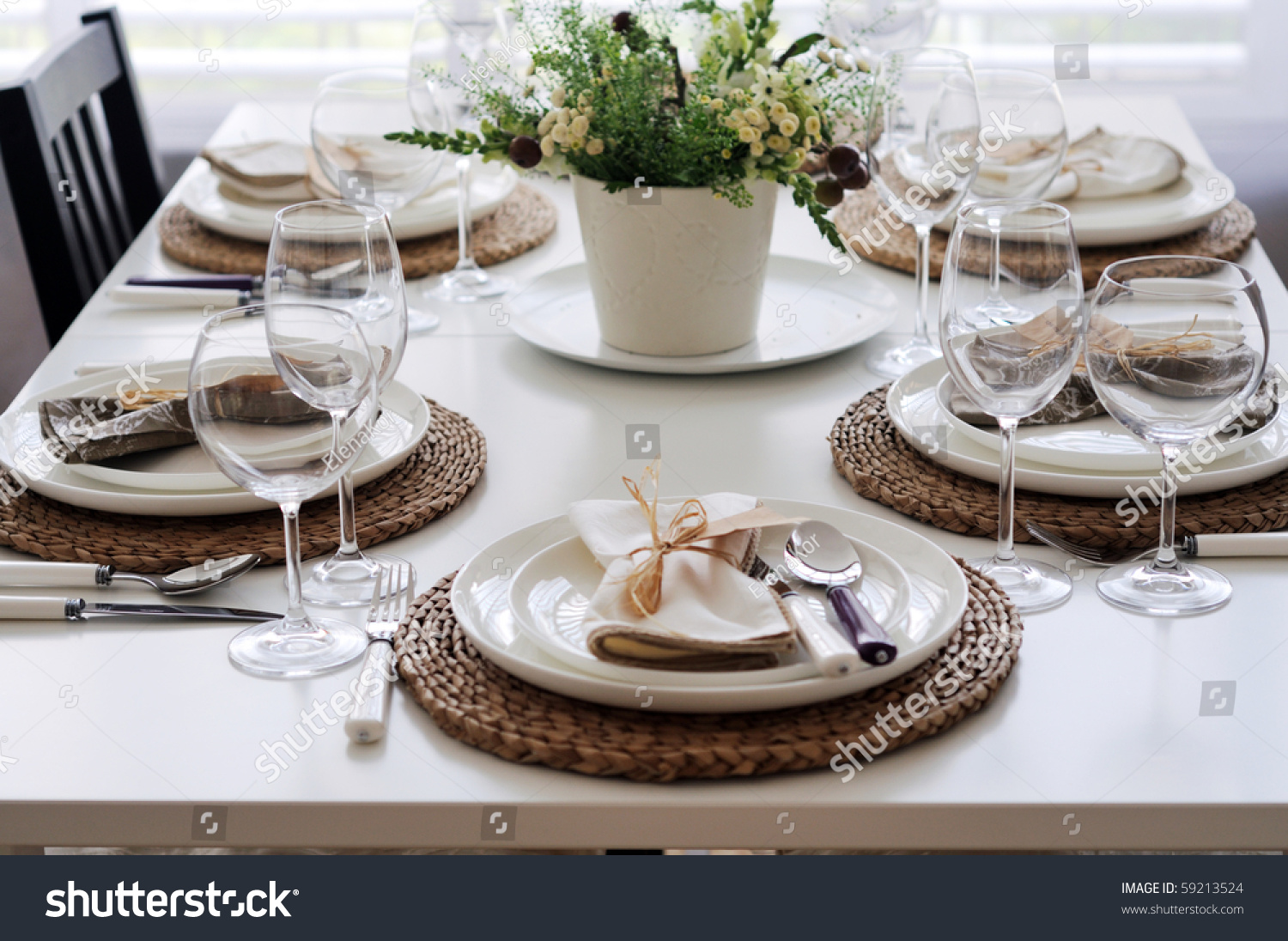 Summer Table Setting For Lunch Stock Photo 59213524 : Shutterstock