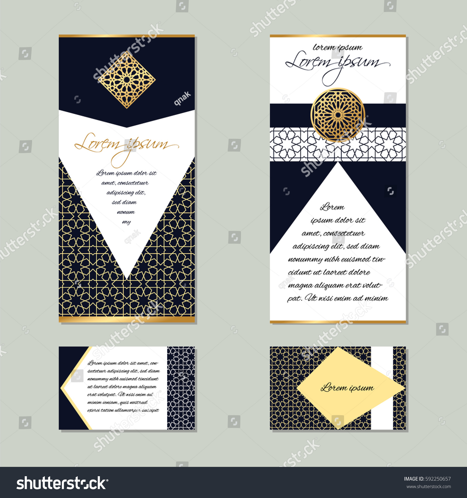 Brochure design business cards flyers islamic imagem vetorial de brochure design business cards flyers islamic imagem vetorial de banco 592250657 shutterstock reheart Choice Image