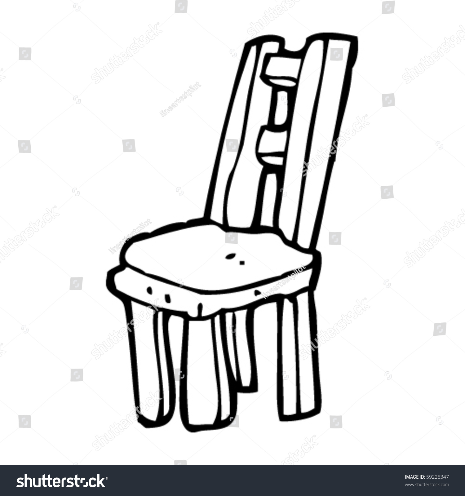 Black and white chair drawing - Chair Drawing