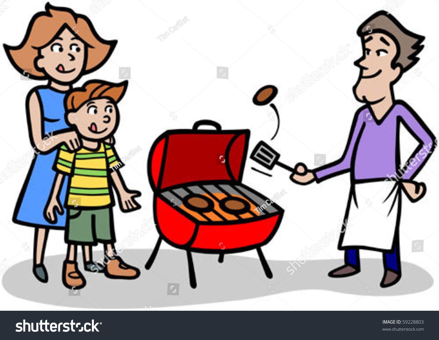 free clipart man grilling - photo #50