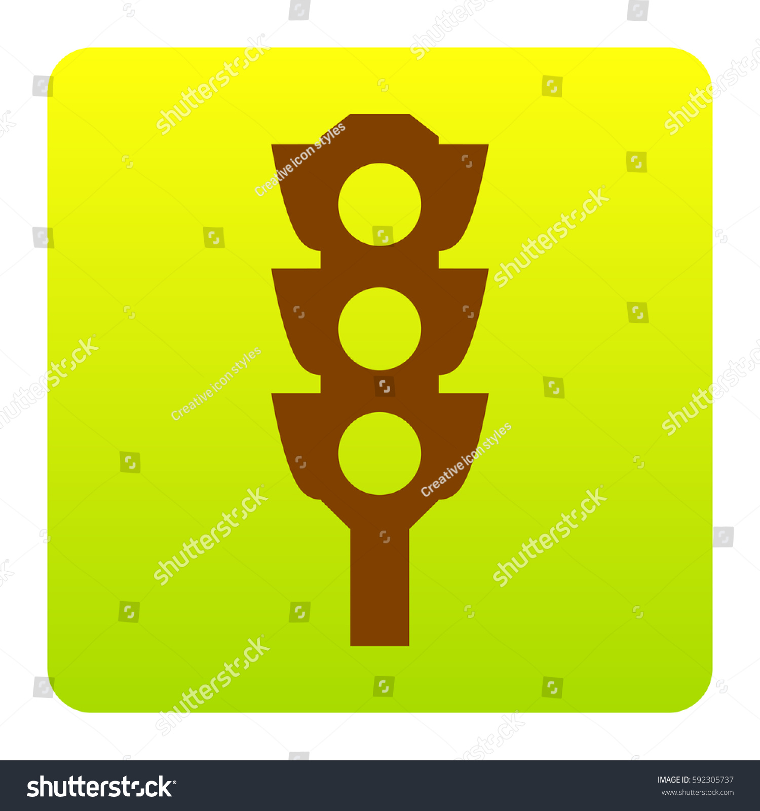 Traffic Light Sign Vector Brown Icon Stock Vector 592305737 ... for Traffic Light Yellow Icon  75sfw