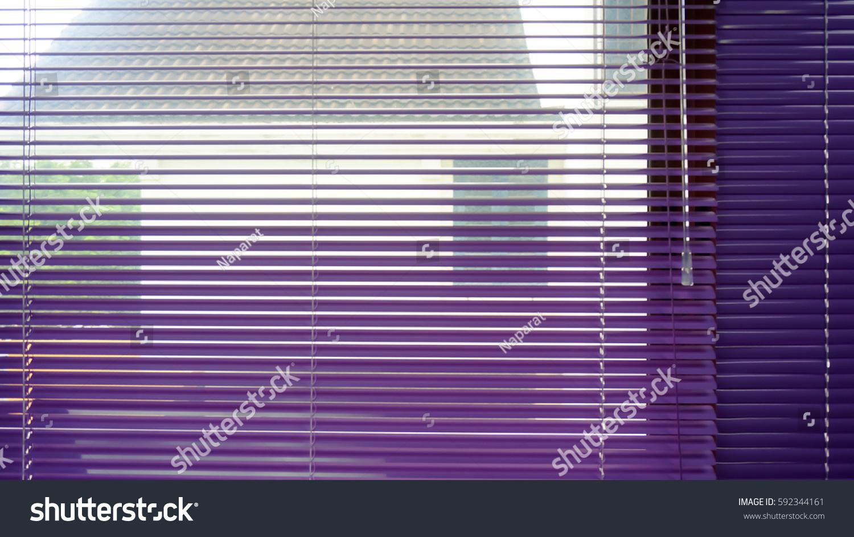 Colour Aluminium Venetian Blindsclose Up Stock Photo Edit Now