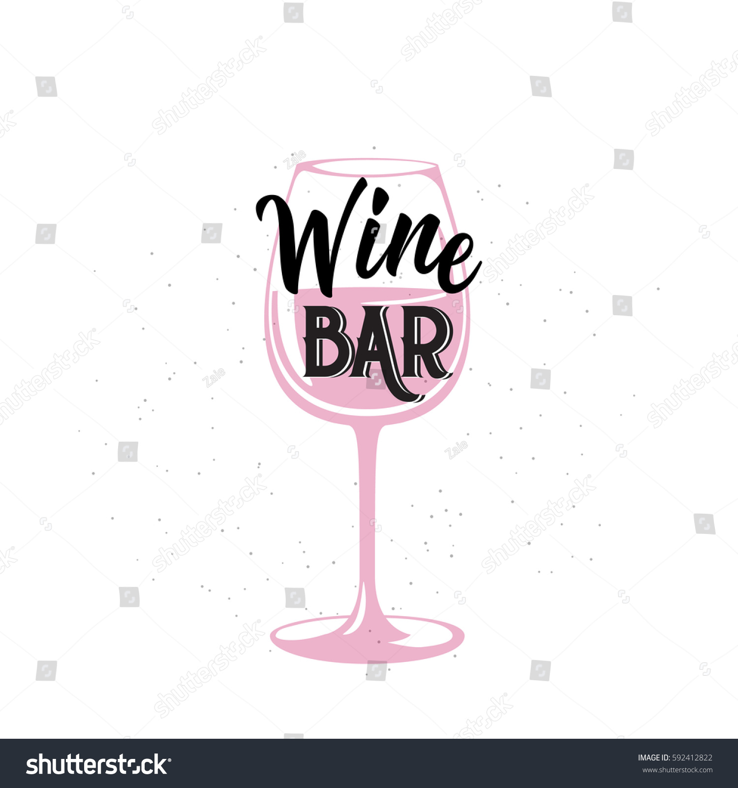 Vector Illustration Drink Related Typographic Quote Stock Vector ...