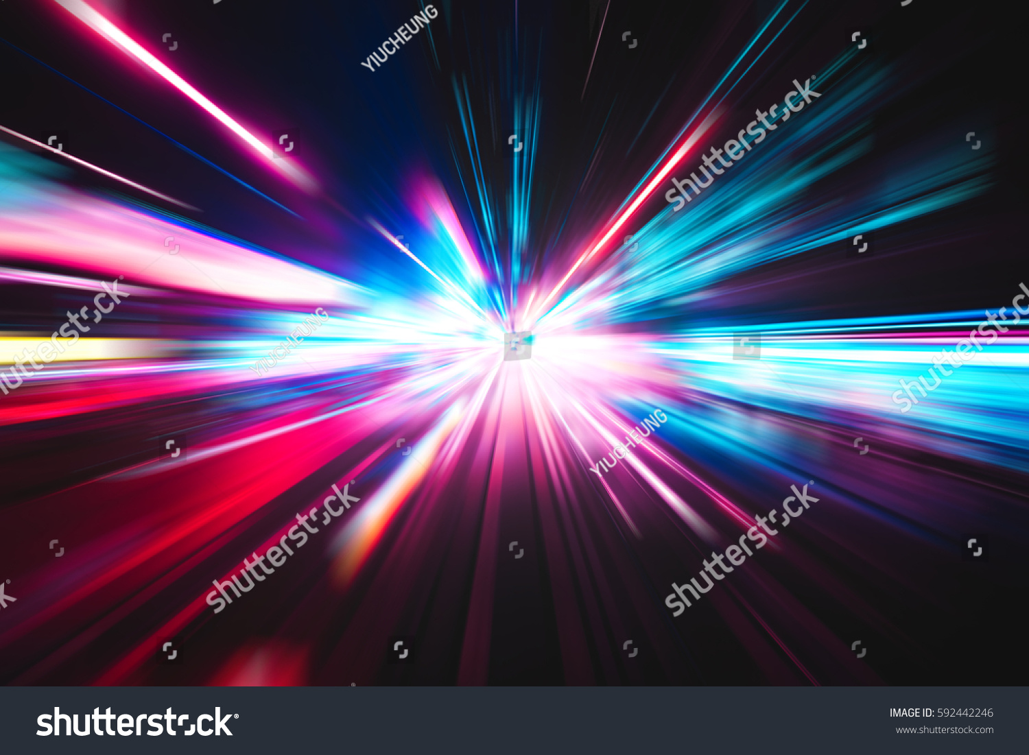 Abstract city street light explosion effect #592442246