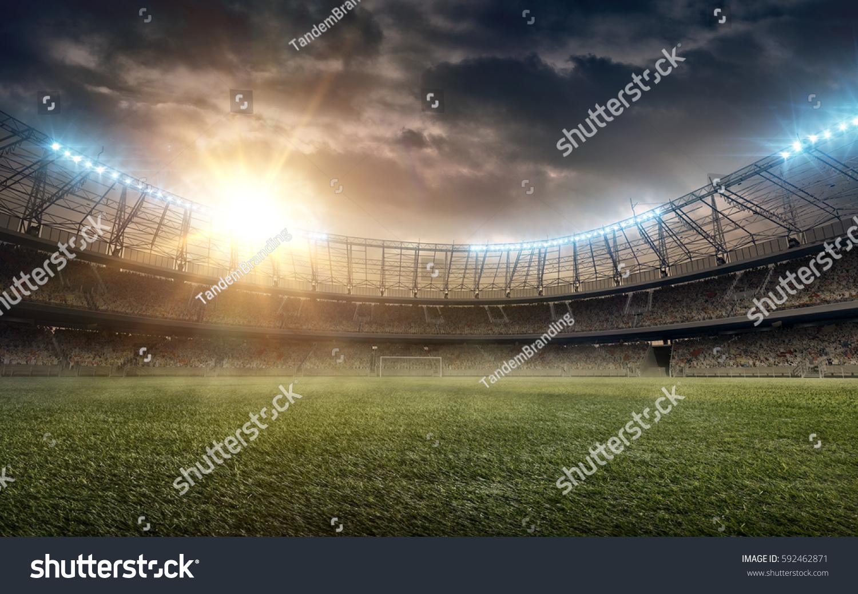 soccer field #592462871