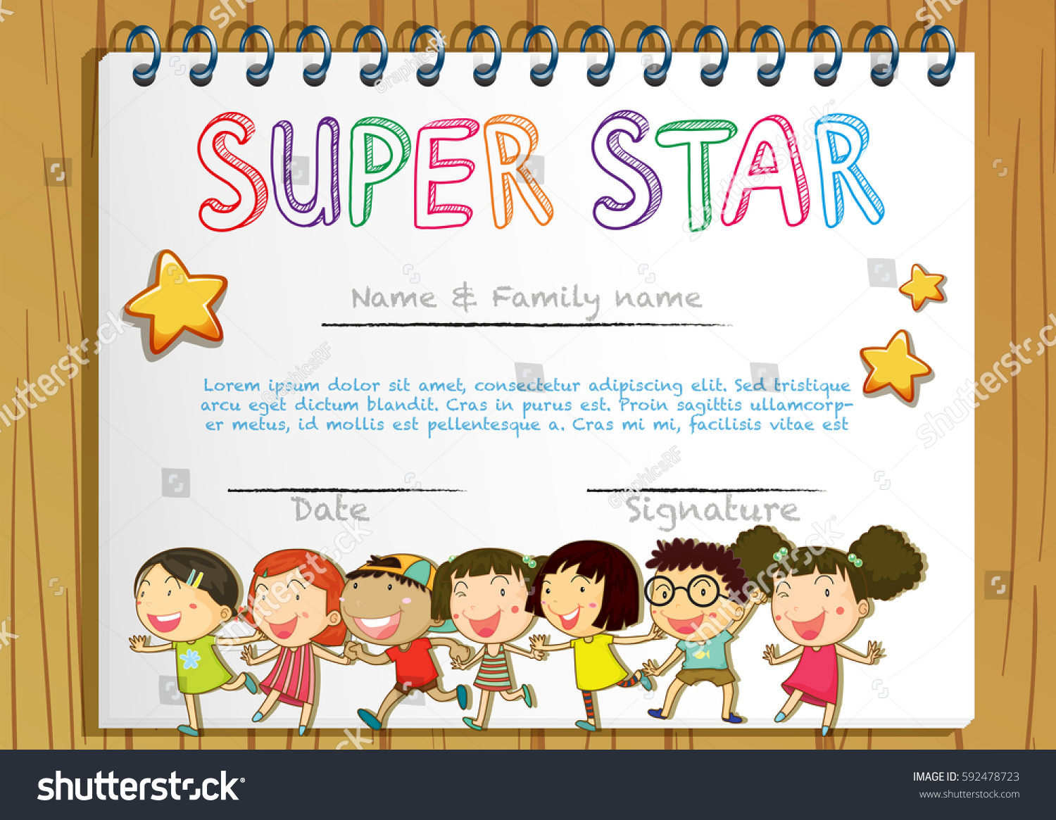 Star certificate template exolabogados star certificate template xflitez Choice Image