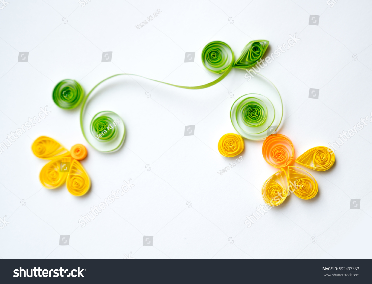Paper Quilling Colorful Yellow Paper Flowers Stock Photo Edit Now