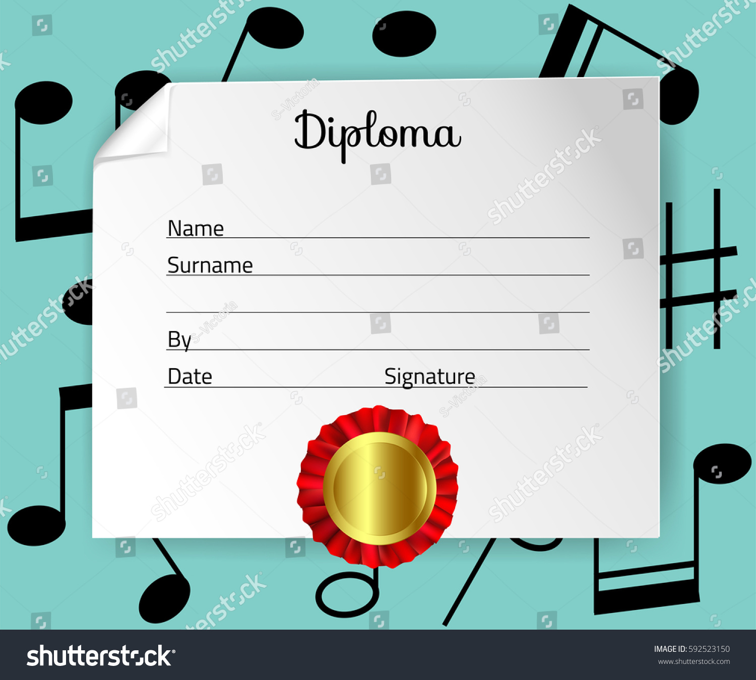 Diploma template kids certificate background preschool stock diploma template for kids certificate background for preschool musical school or playschool vector yelopaper Images