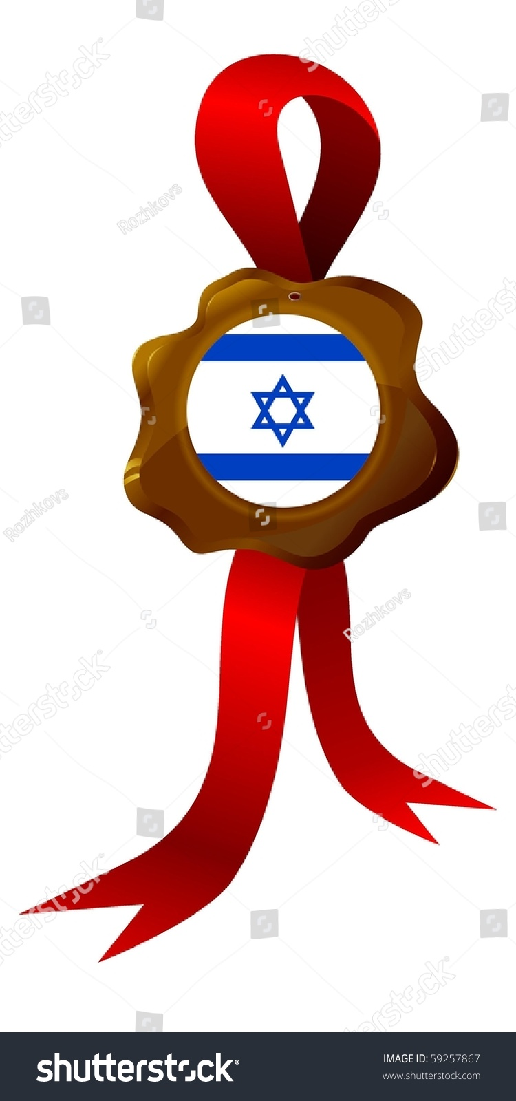 Vector Label National Symbols Israel Stock Vector 59257867