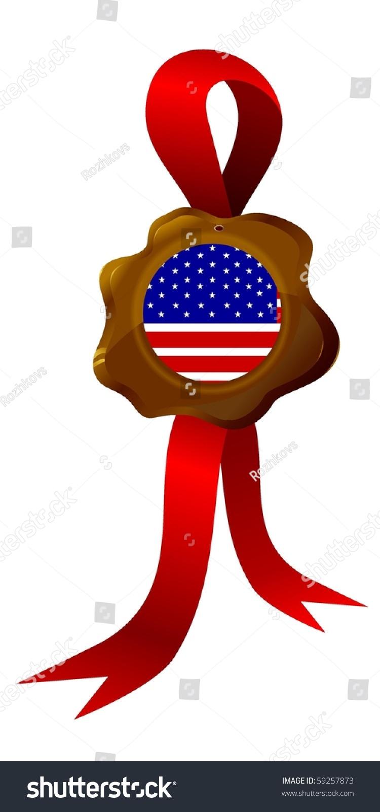 Vector Label National Symbols Usa Stock Vector Royalty Free