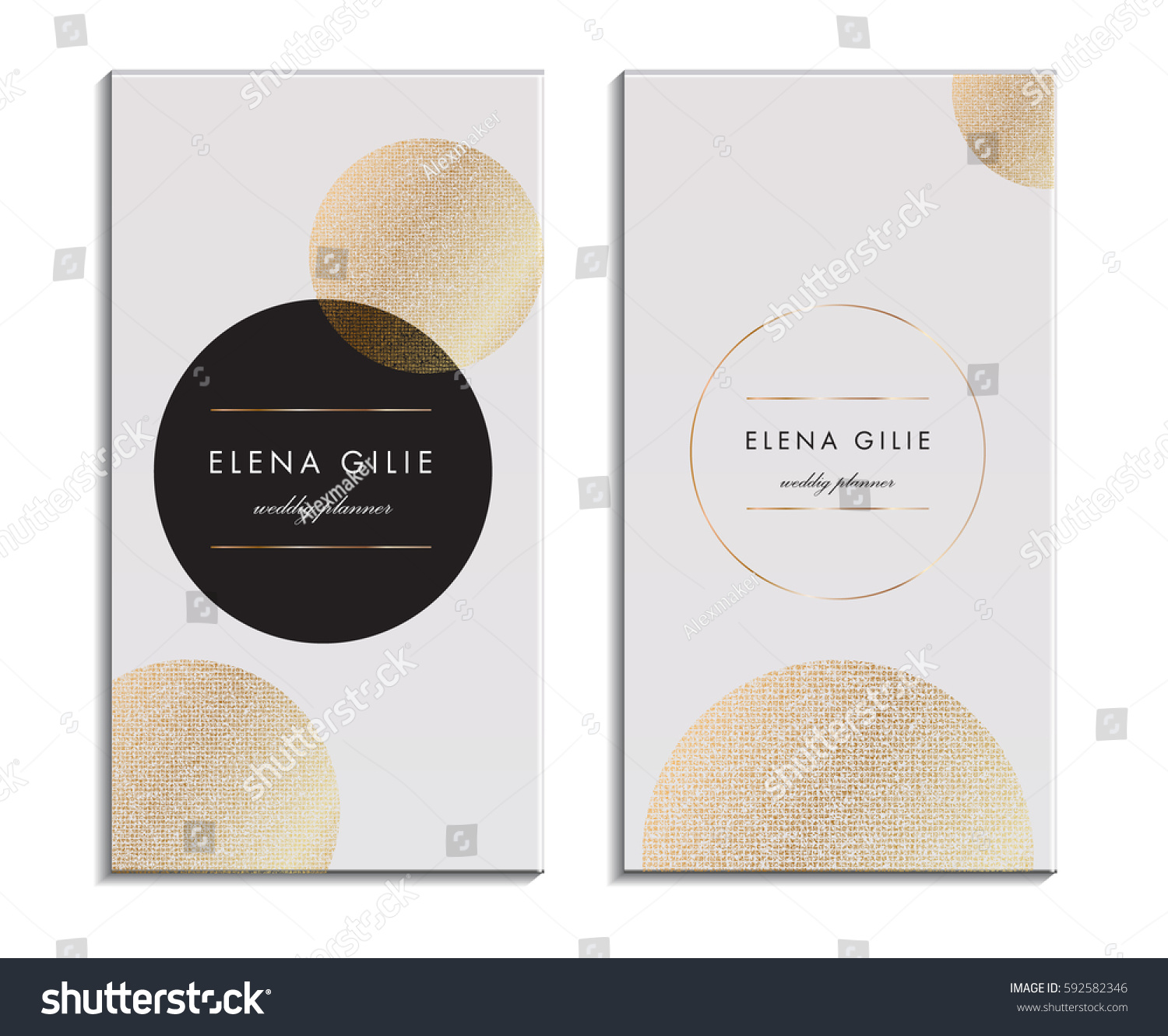 White Business Card Template Gift Cards Stock Vector