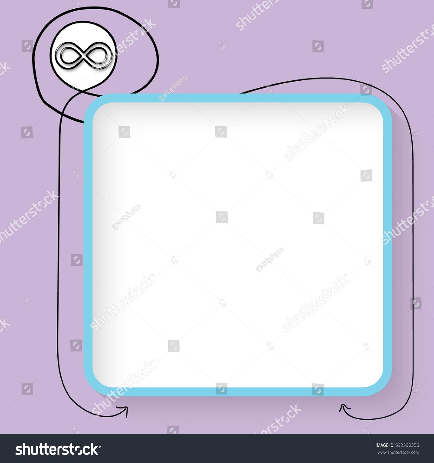 Blue text box black infinity symbol stock vector 592590356 a blue text box and black infinity symbol biocorpaavc