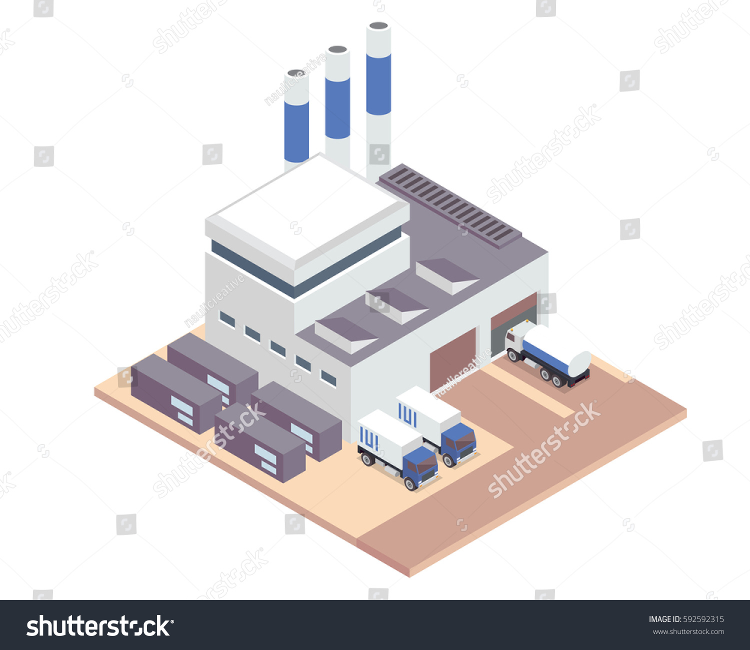 Modern Isometric Industrial    Factory    Warehouse Logistic Stock Vector 592592315  Shutterstock