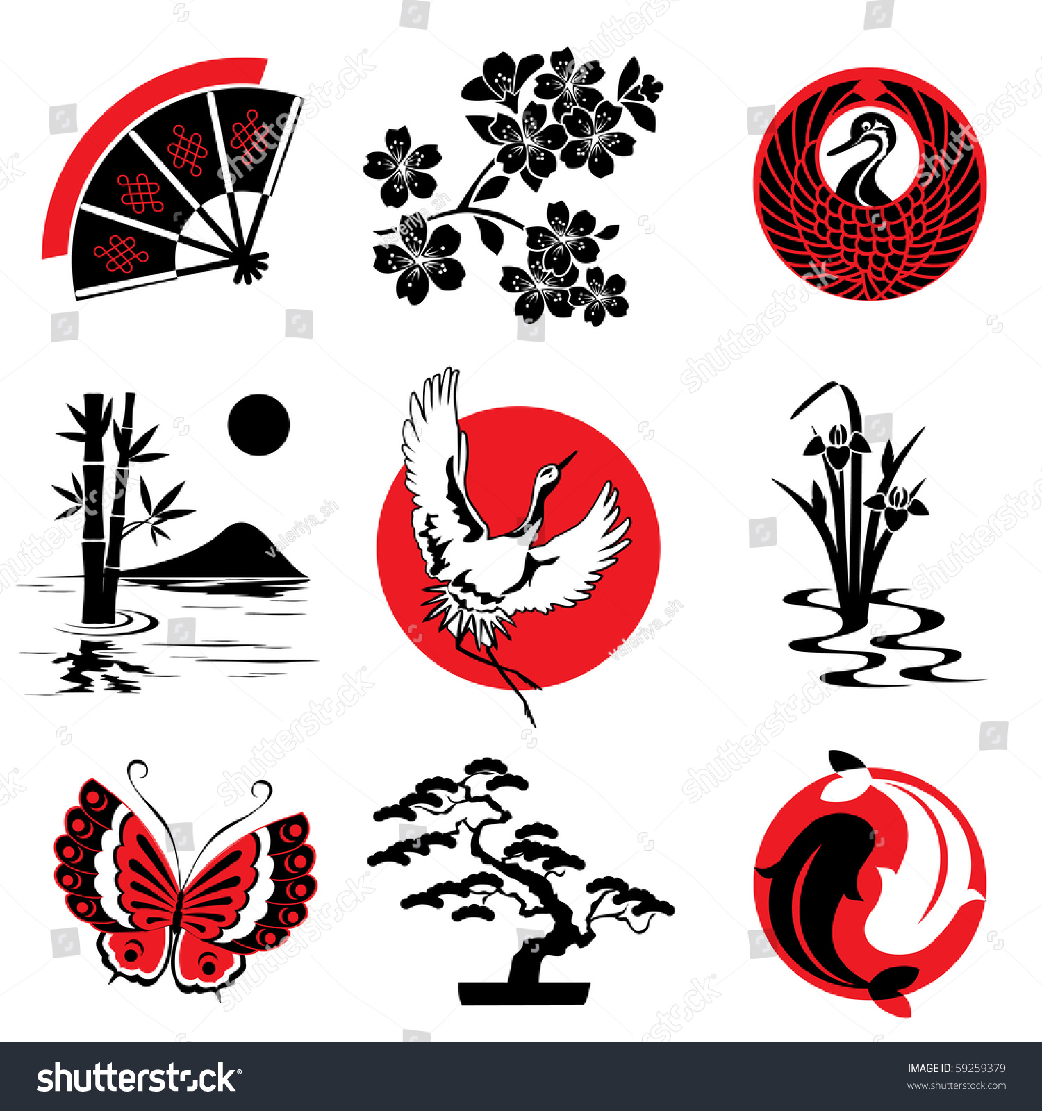 Vector design elements japanese style stock vector for Asian style decoration