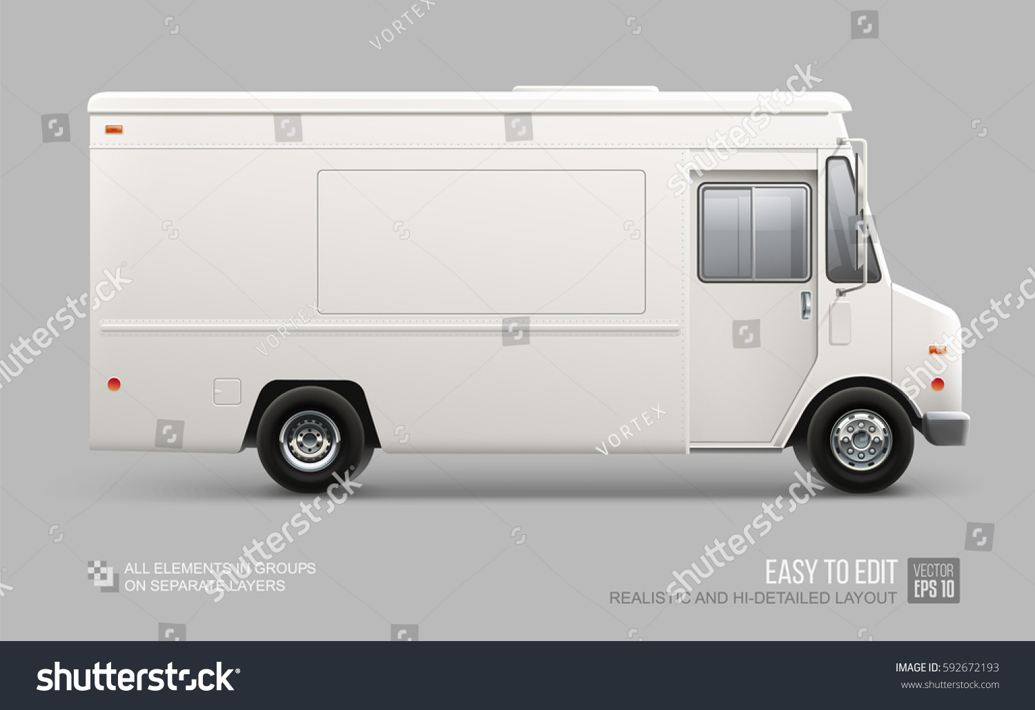 Blank Food Truck Design Template