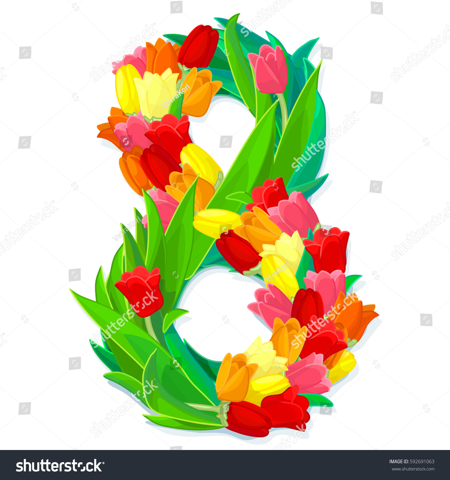 vector floral celebration illustration cartoon design stock vector