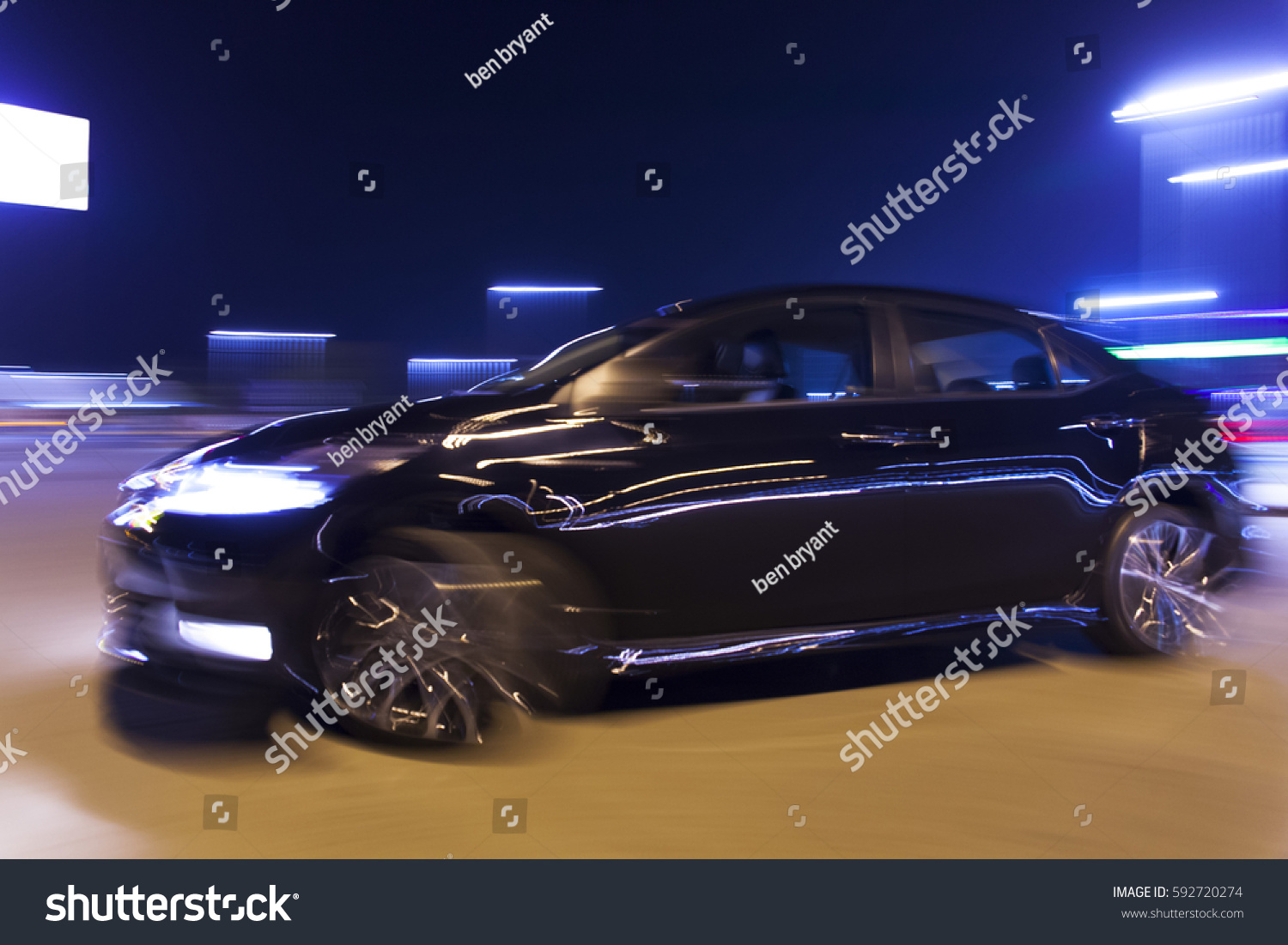 Blurred Image Motion Car Night Stock Photo 592720274 Shutterstock