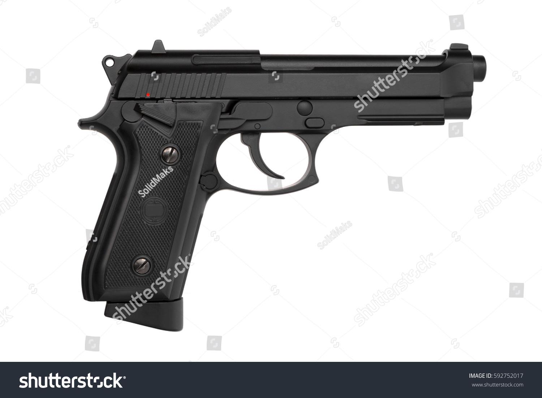 gun white background - photo #18