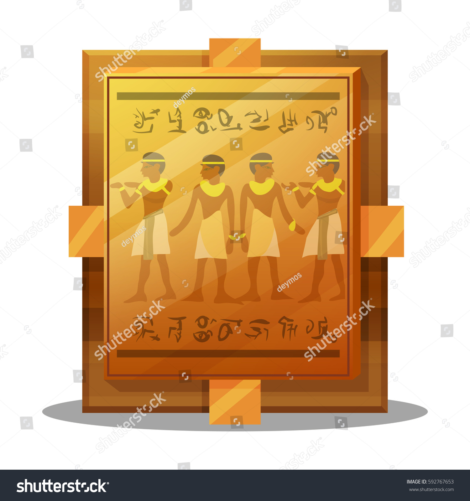 stock vector coin featuring egyptian cleopatra image egypt gold illustration of piastre