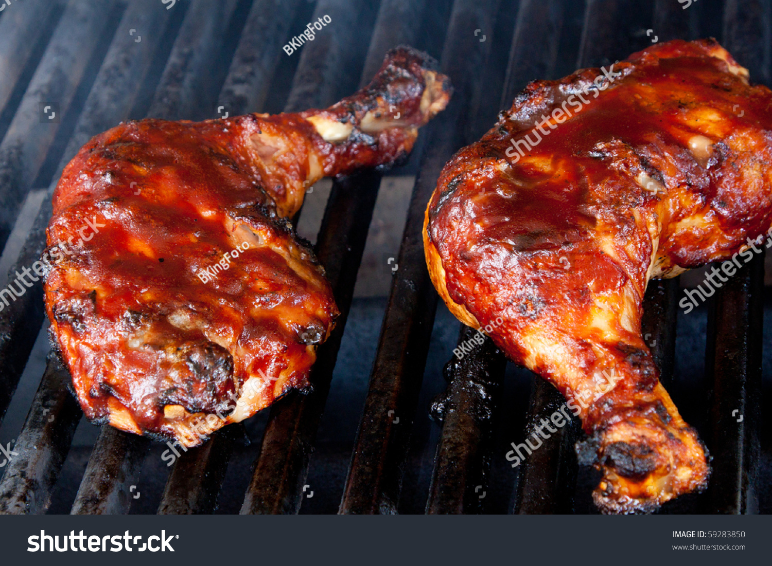 Chicken Leg Quarters On Barbecue Grill Preview Save To A Lightbox Chicken  Leg Quarters On Barbecue
