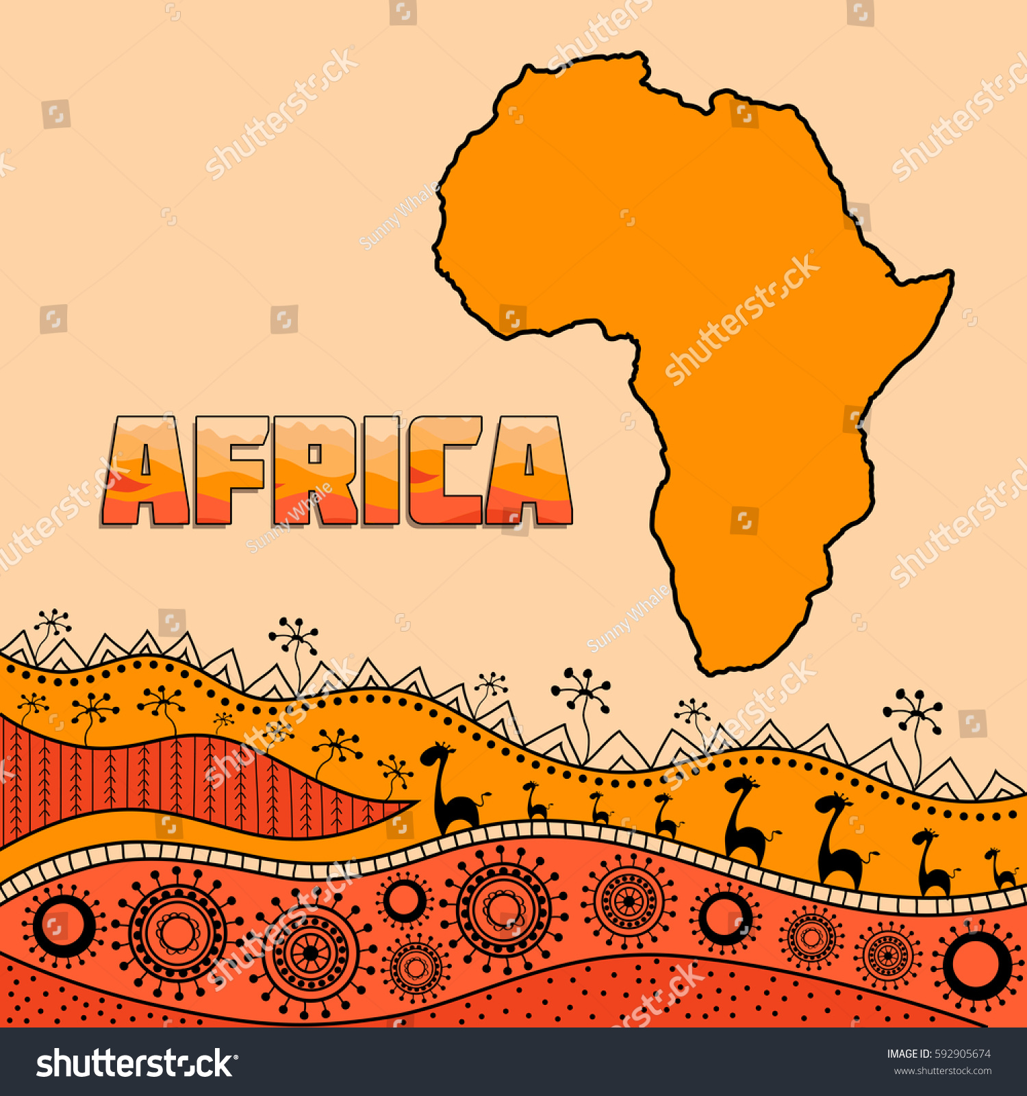 template design african style african traditional stock vector