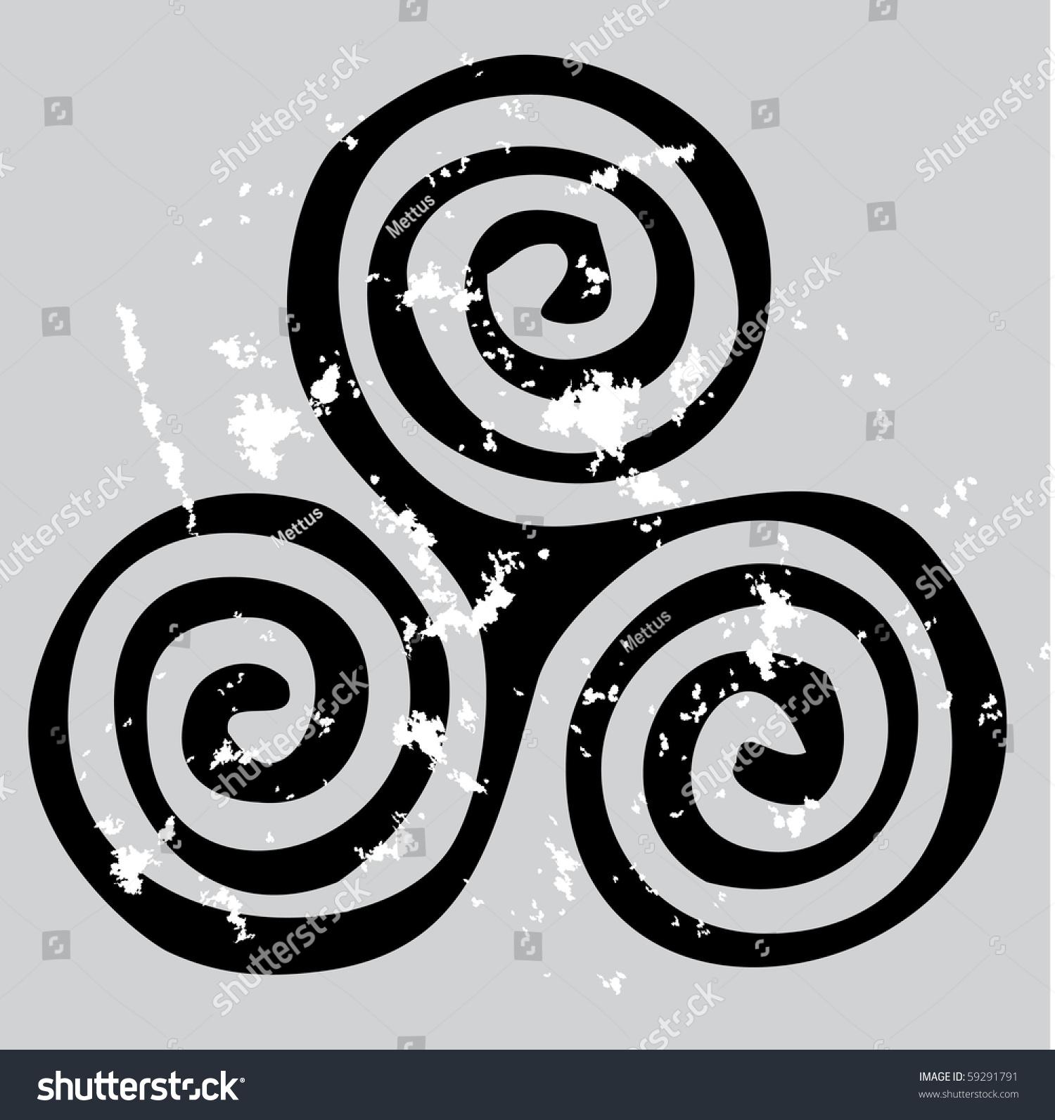Black celtic spiral on gray grunge stock vector 59291791 black celtic spiral on the gray grunge background triskelion isolated on grey color triskele buycottarizona Images