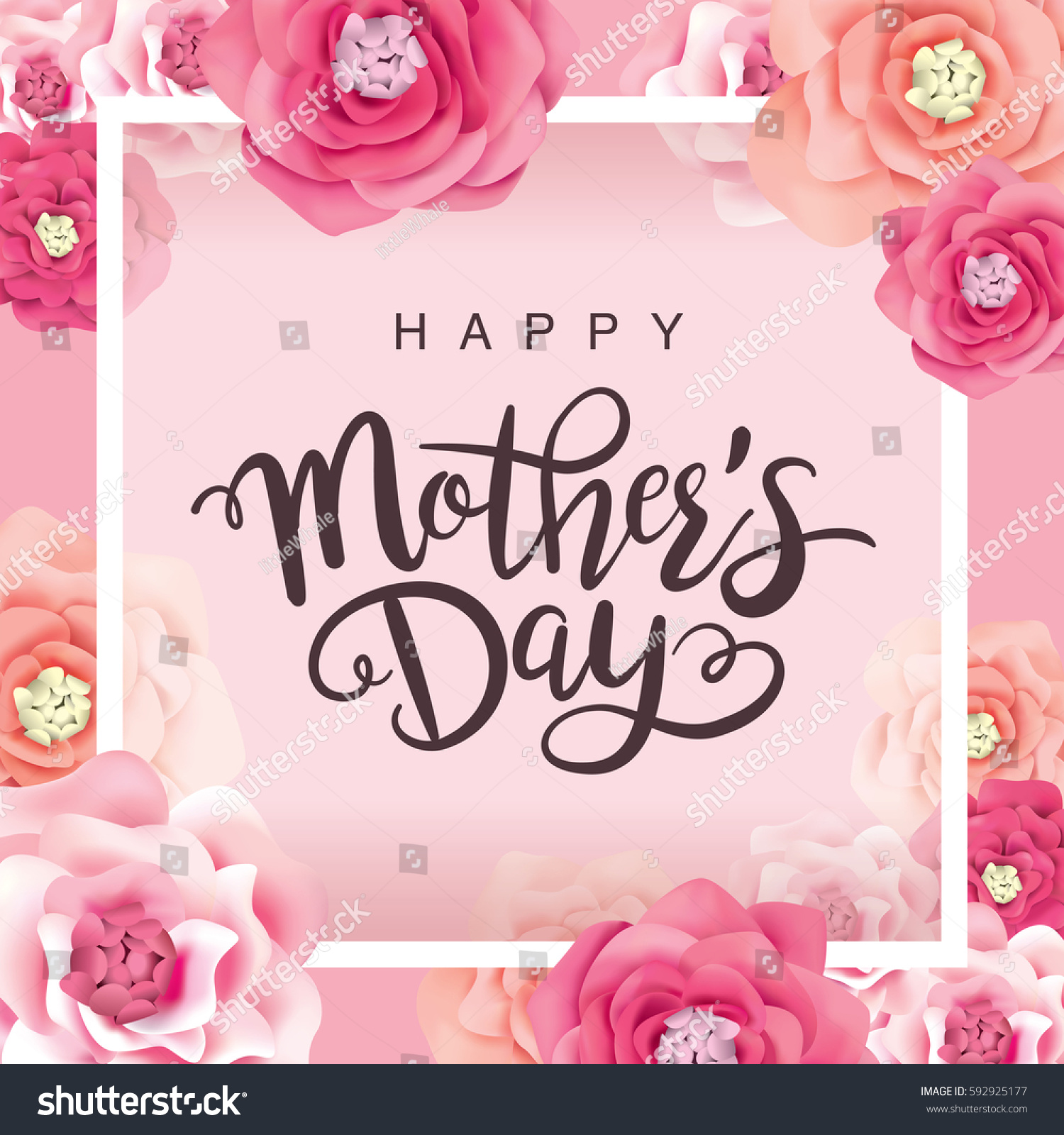 Mother's day greeting card with flowers background #592925177