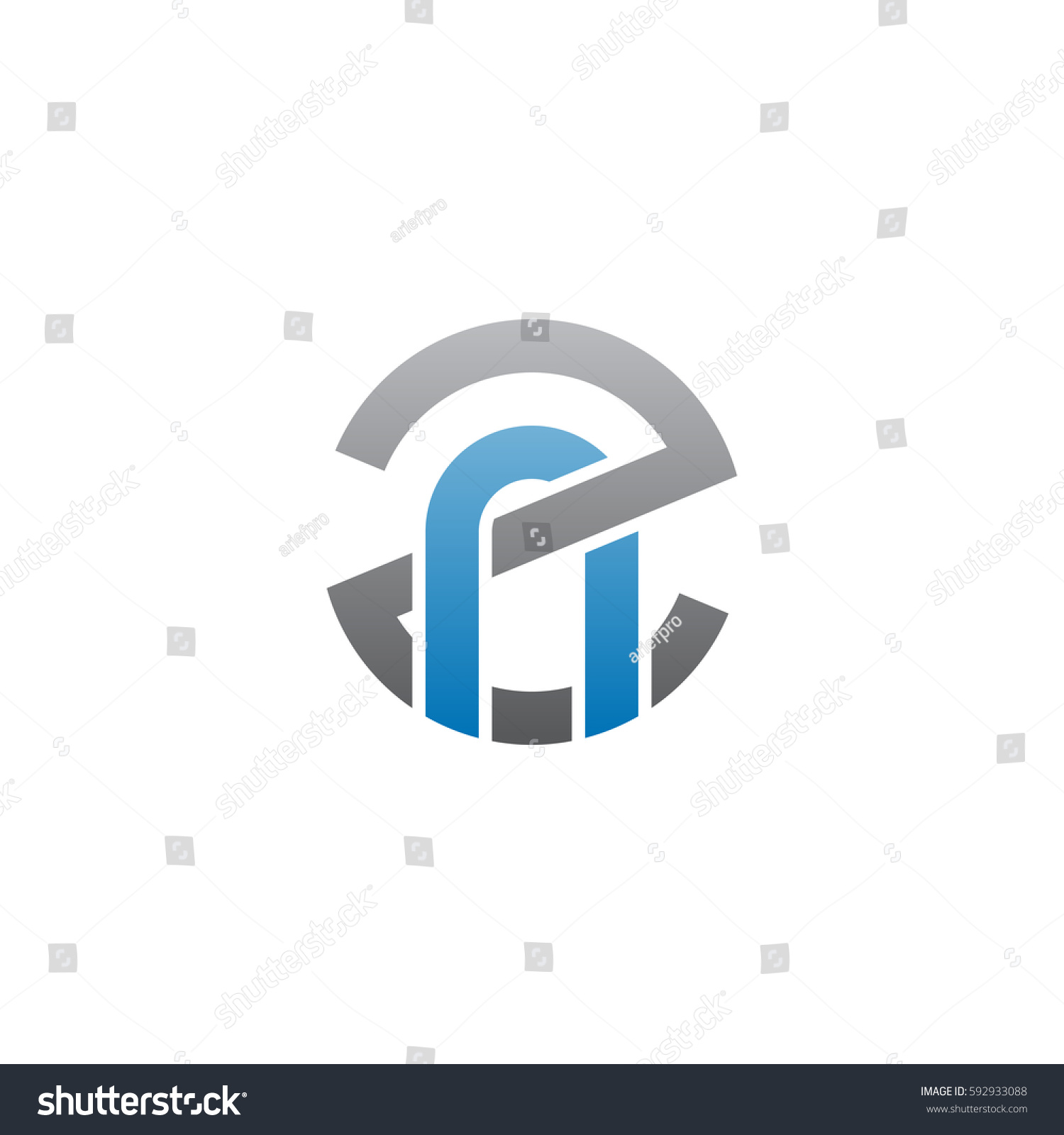 Initial Letter Logo Zn Nz N Stock Vector 592933088