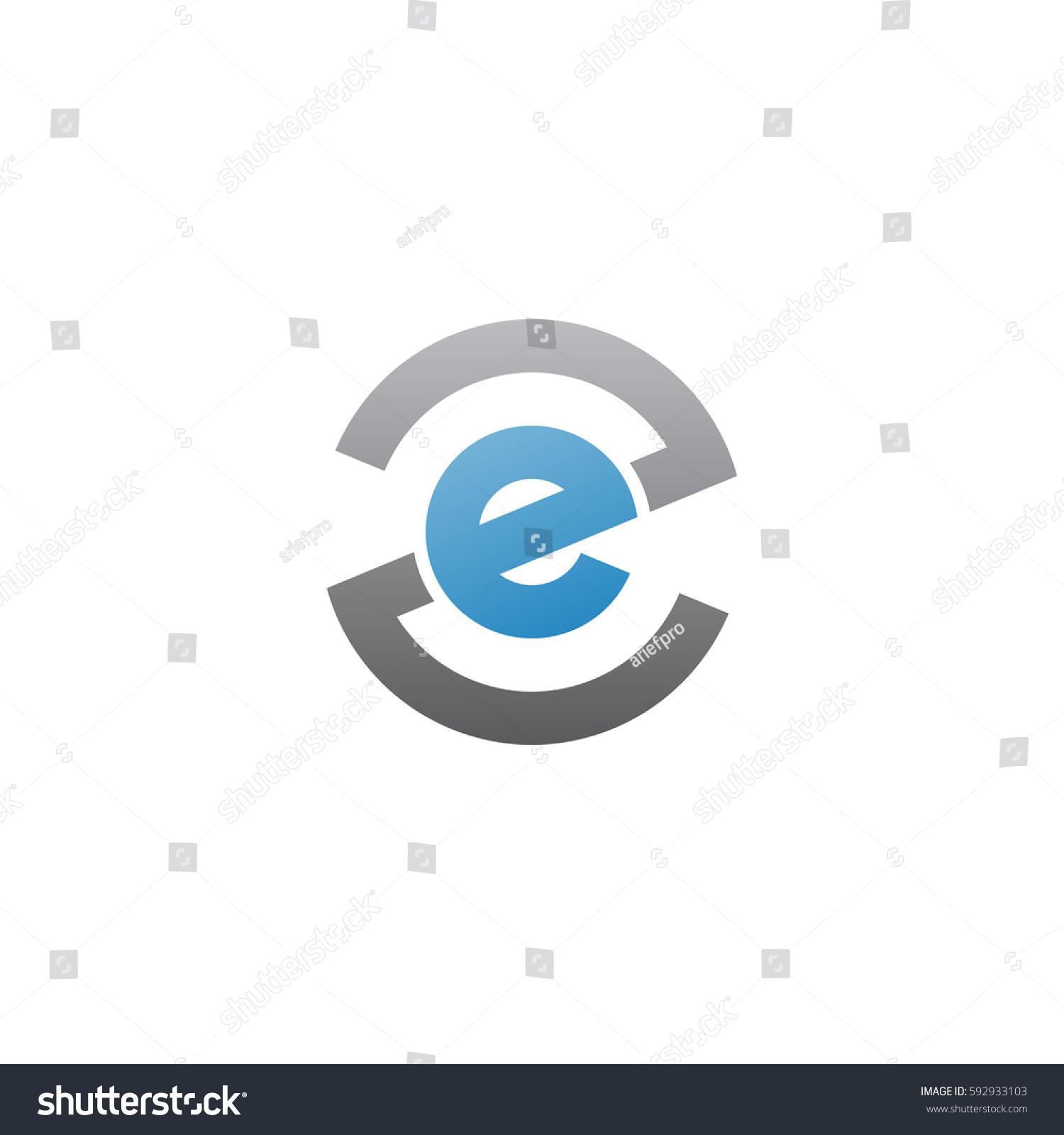 initial letter logo ze ez e stock vector 592933103 shutterstock