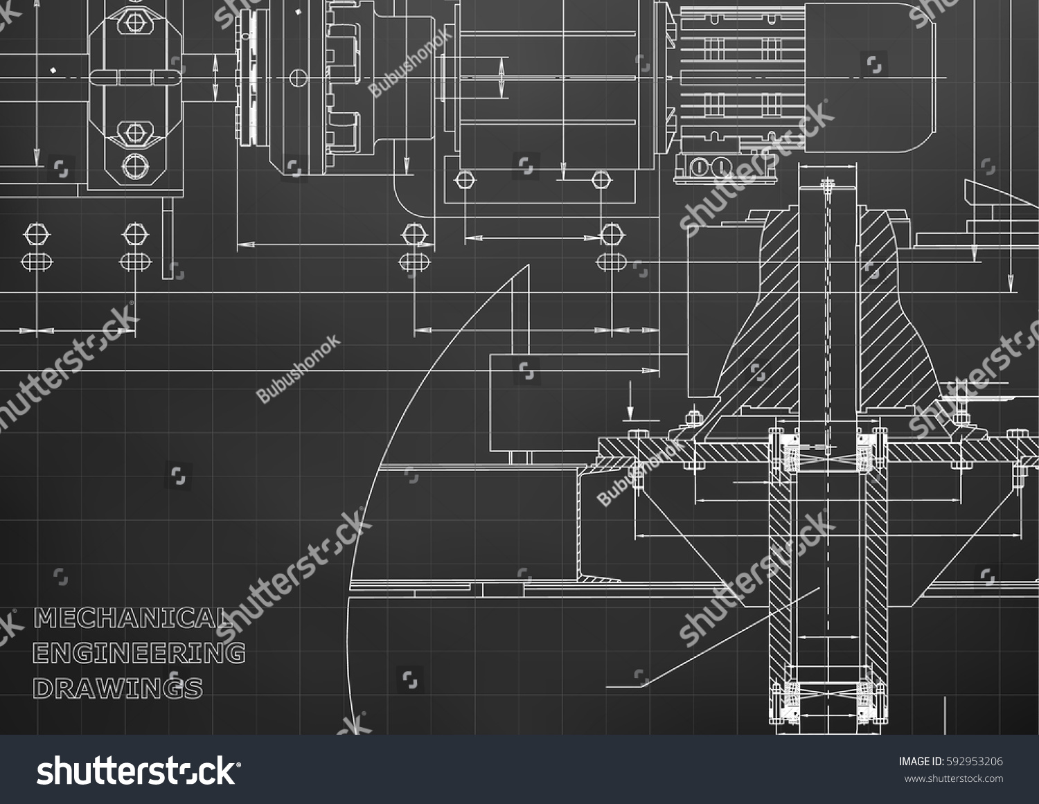 Engineering Backgrounds Mechanical Engineering Drawings ...