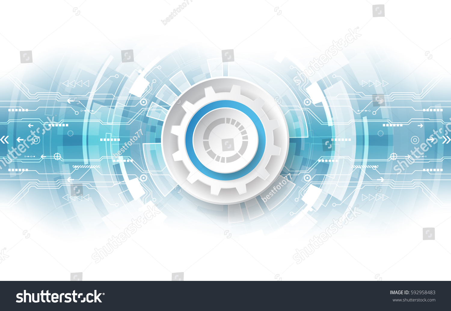 Technology Abstract Background Stock Illustration: Abstract Technological Background Concept Various