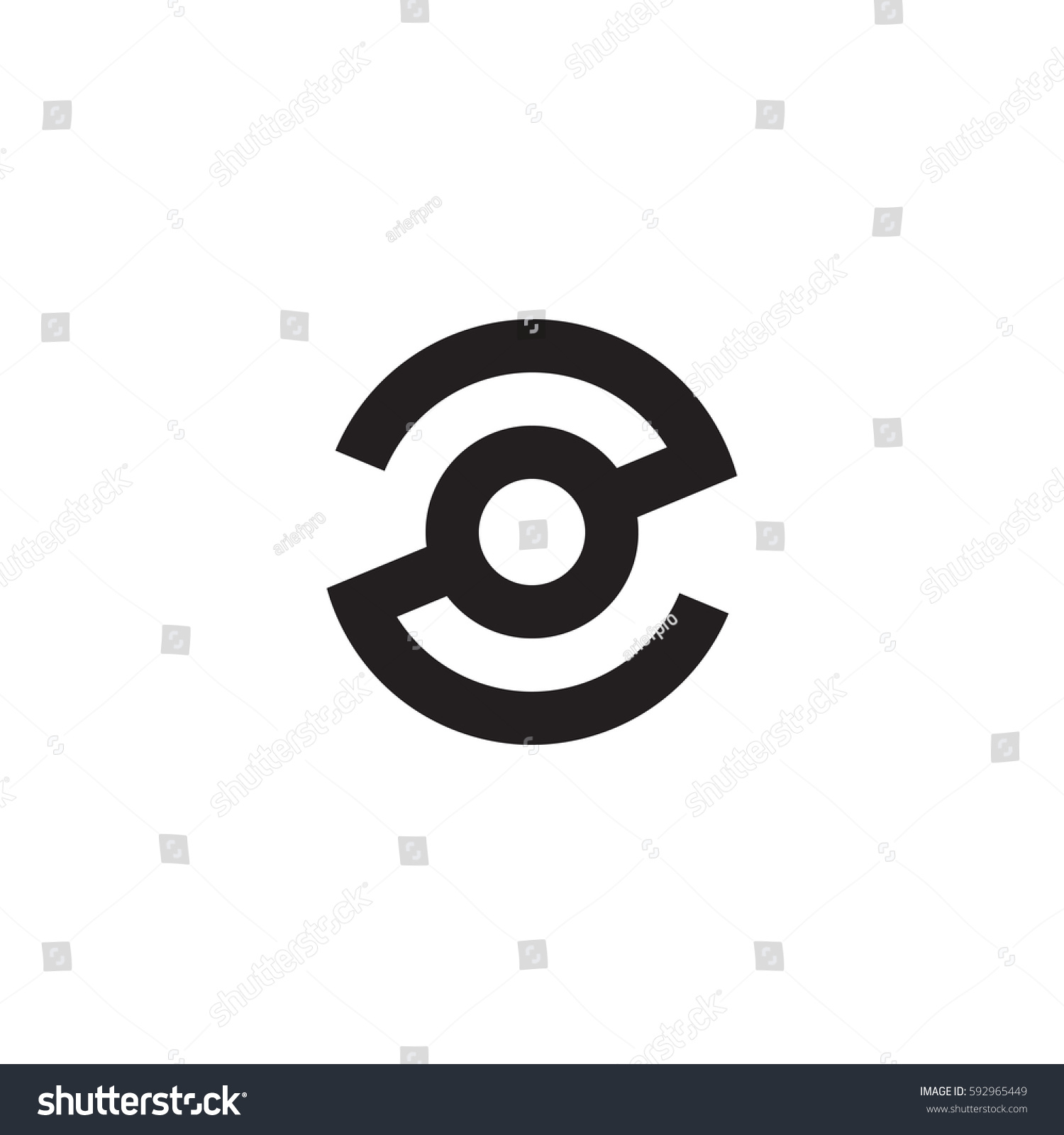 Initial Letter Logo Zo Oz O Stock Vector 592965449 Shutterstock