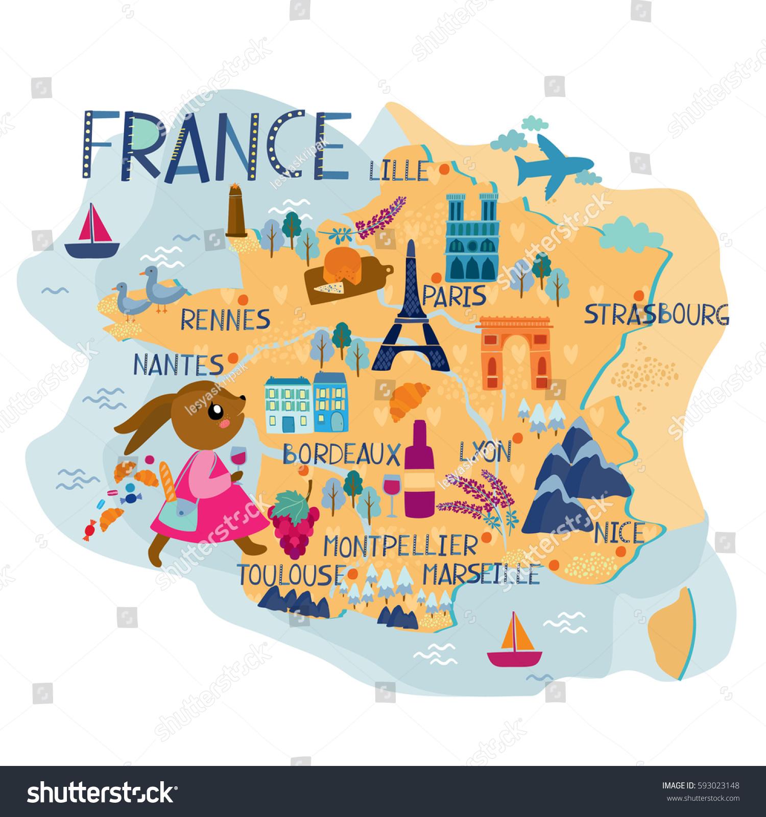 Map Of France For Children.Map Of France For Kids Kameroperafestival