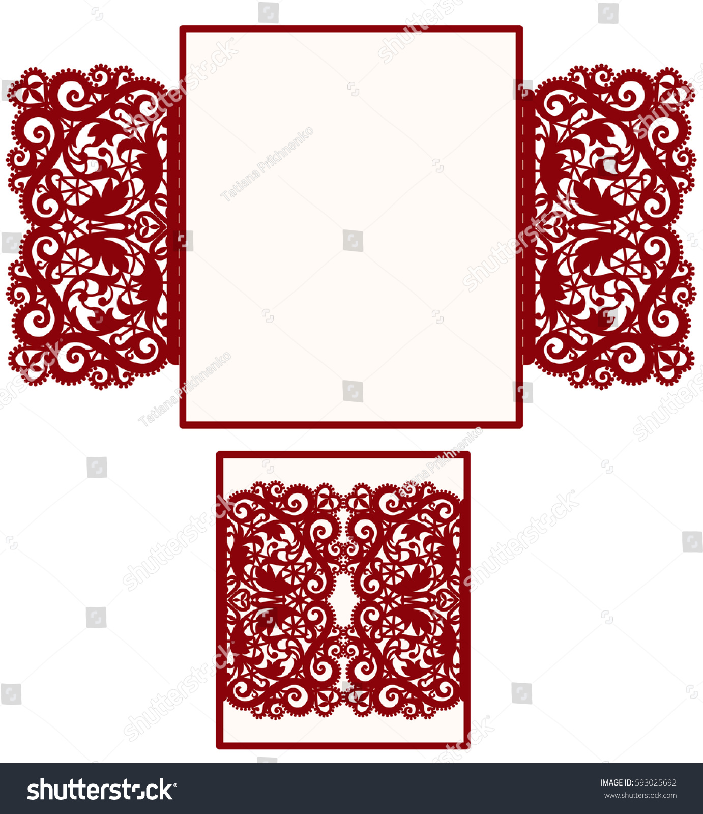 Square Laser Cut Wedding Invitation Template Stock Vector (2018 ...